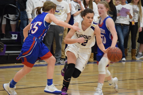 Durand Varsity girls' hoops playoffs vs. Mondovi, Feb 22, 2019