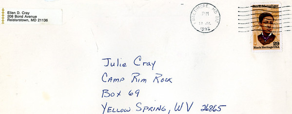 Camp Rim Rock Letters from Home 1992