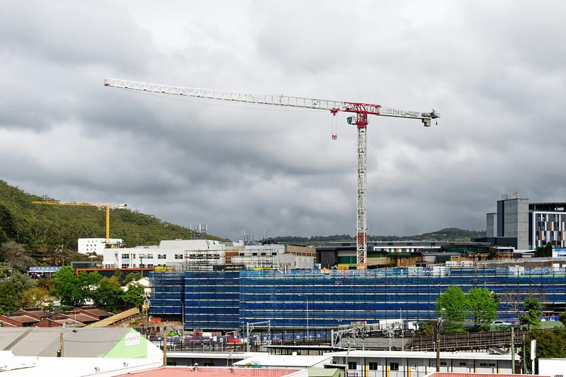 Gosford Hospital building progress H53ed October 2018.