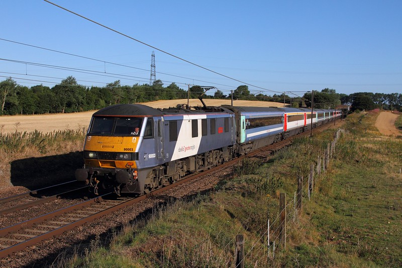 90003 on the 1P13 0710 Norwich to London Liverpool Street at Baylham on the 4th August 2015.JPG