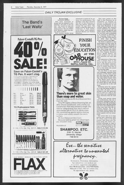 Daily Trojan, Vol. 72, No. 53, December 08, 1977