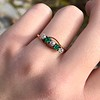 .45ctw Victorian 5 Stone OEC and Emerald Band 2