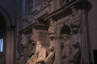 Rome  -  Michelangelo -- Moses --in St. Peter  of the Chains