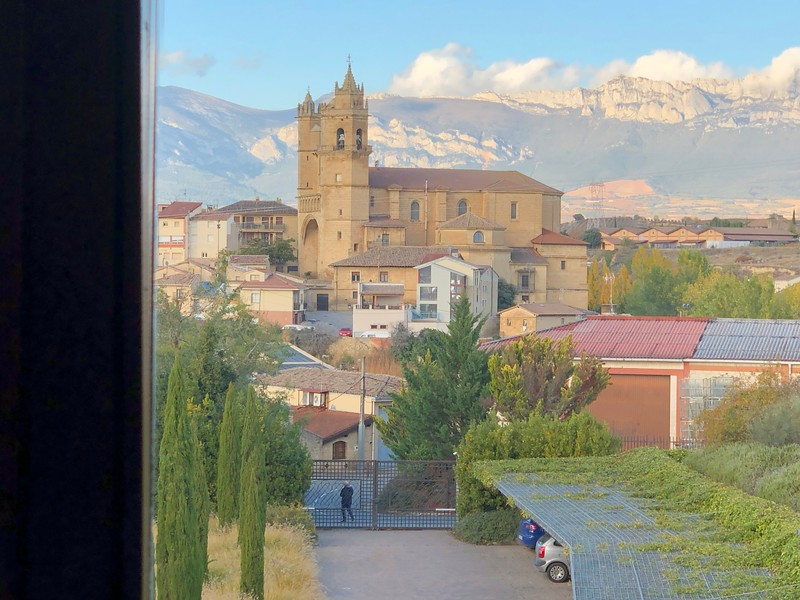 View from our room of village of Elciego, Rioja