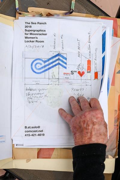 Barbara Stauffacher Solomon - Looking at the Sketch