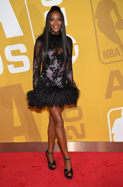 . Naomi Campbell arrives at the NBA Awards at Basketball City at Pier 36 on Monday, June 26, 2017, in New York. (Photo by Evan Agostini/Invision/AP)
