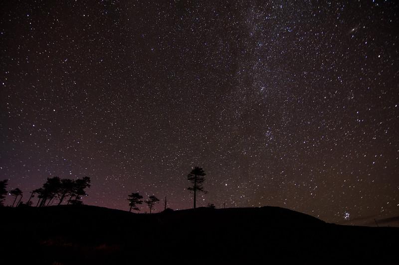 Night sky in the Scottish Highlands