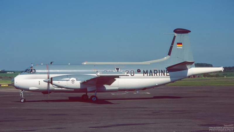 61+20. Breguet 1150 Atlantic. German Navy. Prestwick. 1990`s.