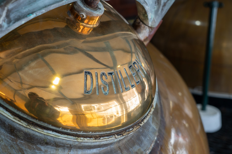 Copper still at Laphroaig Distillery on Islay