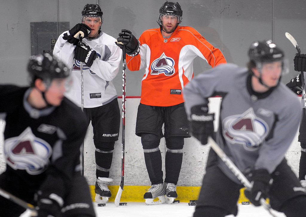. Peter Forsberg announced after practice Sunday morning that he will make a comeback with the Avalanche this season.  Steve Nehf, The Denver Post