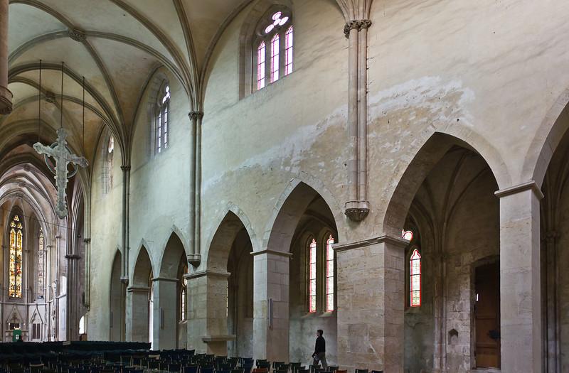 Kloster Schulpforta, Kirche. Blick auf südl. Seitenschiff