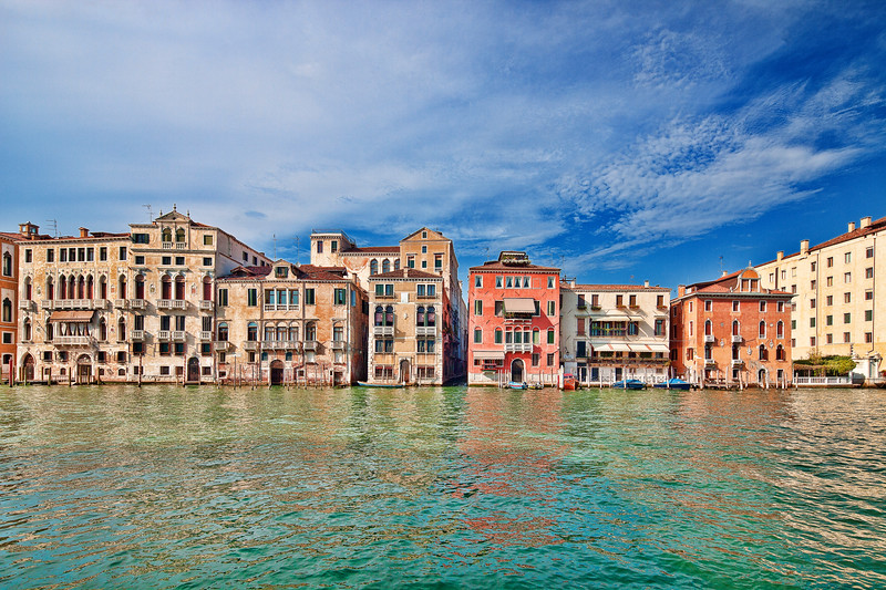 View of Grand Canal and San Marco sestiere from Dorsoduro, Venice, Italy