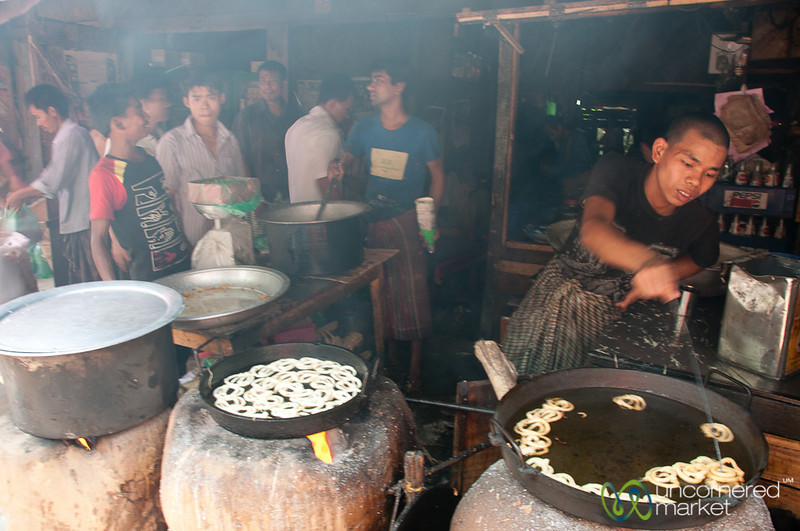 Fried Sweets at Market - Rangamati, Bangladesh