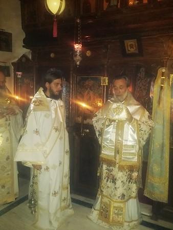 23/11/2014 Ο Θεοφ. Επίσκοπος Απολλωνιάδος στο Αντιπροσωπείο της Μονής Εσφιγμένου