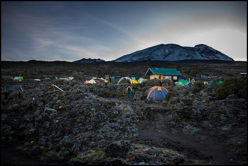Shira 2 camp, morning of Day 3