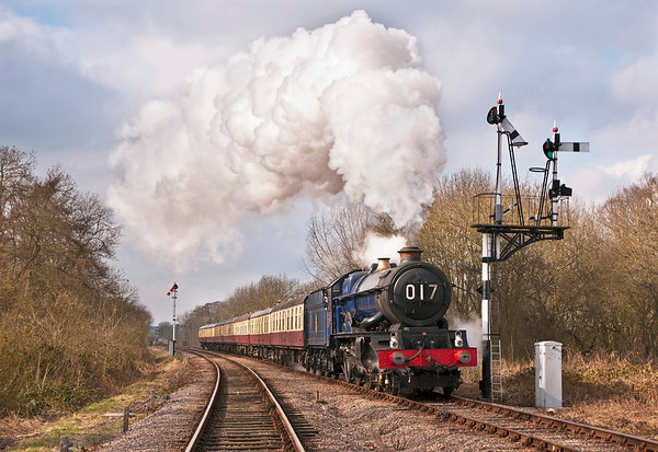 The Blue King 6023 on the GCR