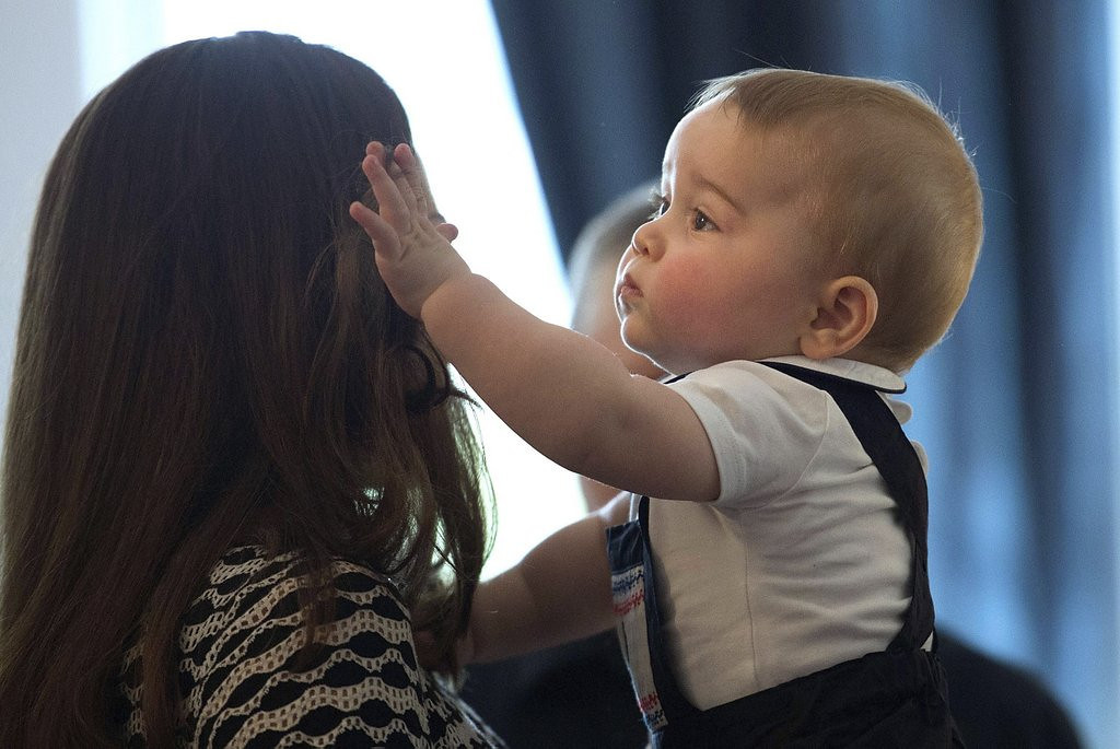 ". <p>10. (tie) PRINCE GEORGE <p>Really hoping that he gets his mother�s hair. (previous ranking: unranked) <p><b><a href=\'http://www.independent.co.uk/news/people/prince-george-embarks-on-grumpy-first-crawlabout-in-new-zealand-9248036.html\' target=""_blank\""> HUH?</a></b> <p>    (AP Photo/Marty Melville, Pool)"