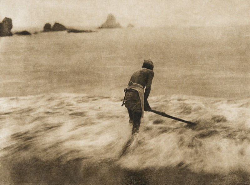 Fishing for smelt in the surf - Trinidad Yurok  (The North American Indian, v. XIII. Norwood, MA, The Plimpton Press,  1924)