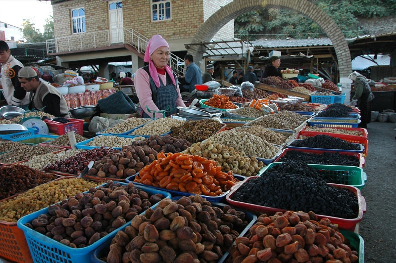 Dried Fruit and Nuts at Osh Market, Kyrgyzstan