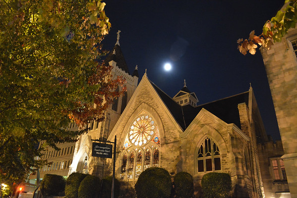 South Highland Presbyterian Church at Night