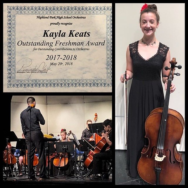 Tonite, she's playing at the HPHS graduation, her last official performance of her freshman year. We are so proud of all you've accomplished musically (and beyond) this year @kayla.l.keats !!