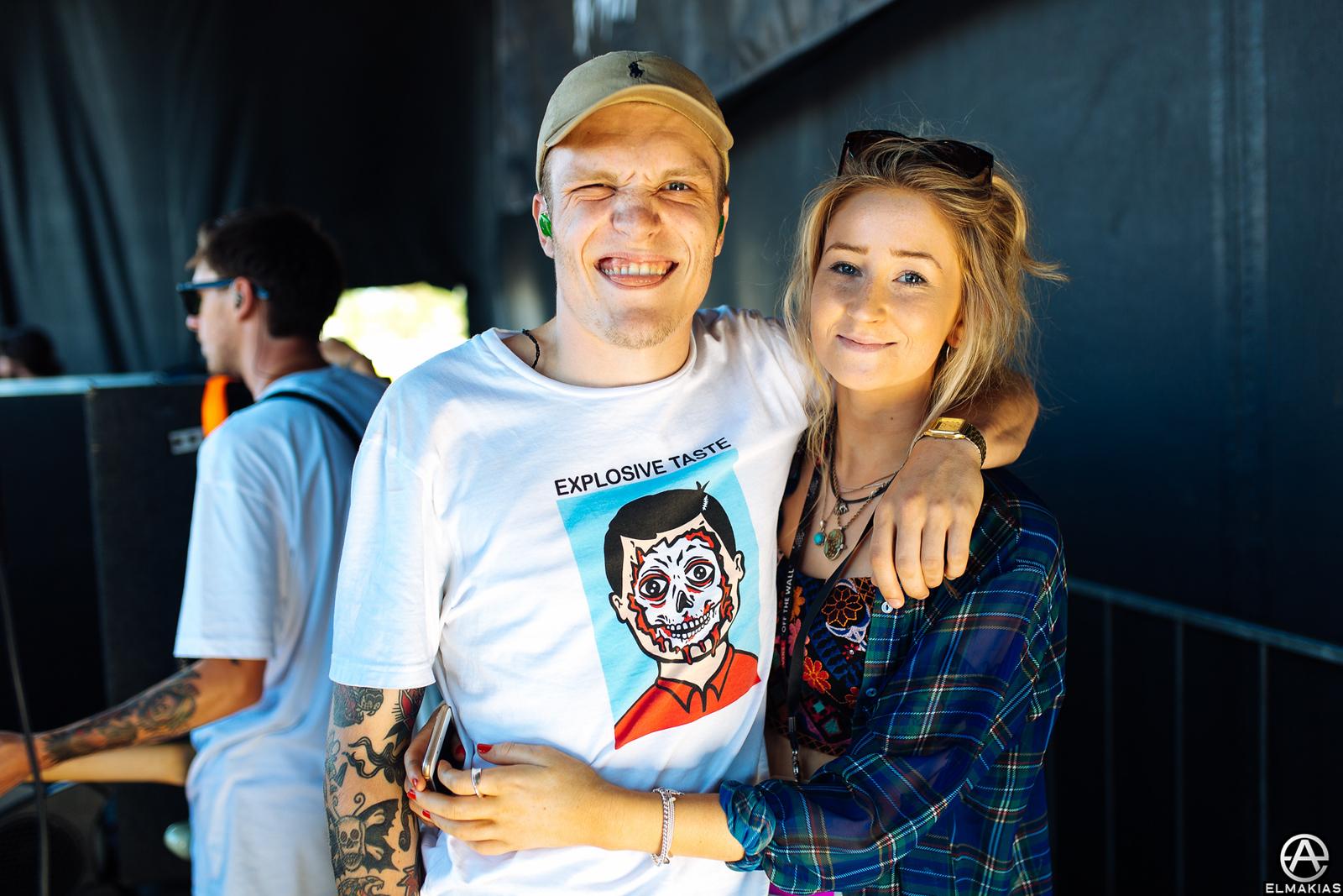 Ben Barlow of Neck Deep at Vans Warped Tour 2015 by Adam Elmakias