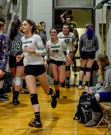 Pregame Set one: Vashon Island High School Varsity Volleyball v Chimacum 09/20/2018