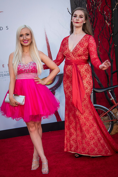 """WESTWOOD, CA - AUGUST 26: Brittany Crabb and Tabree Matheson attends the Premiere Of Warner Bros. Pictures' """"It Chapter Two"""" at Regency Village Theatre on Monday, August 26, 2019 in Westwood, California. (Photo by Tom Sorensen/Moovieboy Pictures)"""