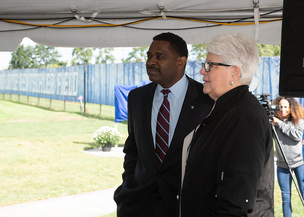 Jack and Joyce Rentschler practice field dedication