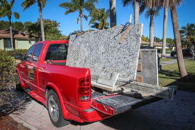 Granite Installation Feb. 19, 2015