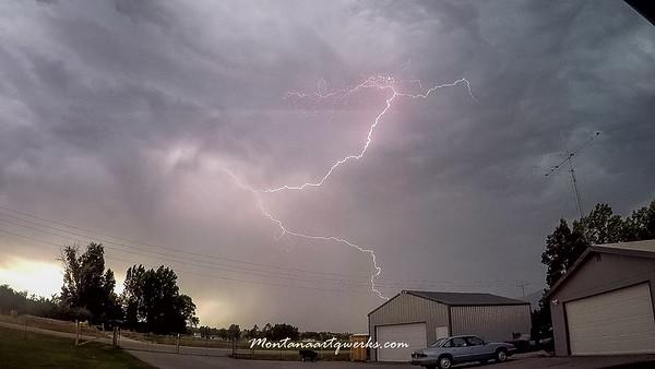 August Lightening Storm - all around My SteppIR Antenna