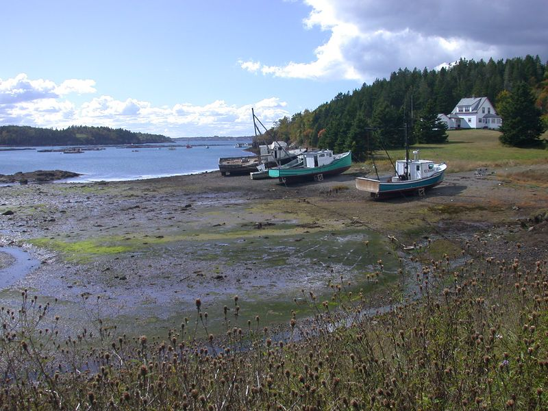 Campobello island ~ waiting for the tide so we can to go back to work