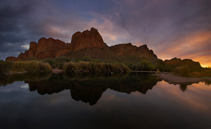 Day's End At The Salt River
