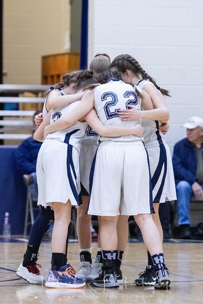 2019-02-28 Hillsdale Academy Varsity Girl's Basketball vs. North Adams - Senior Night