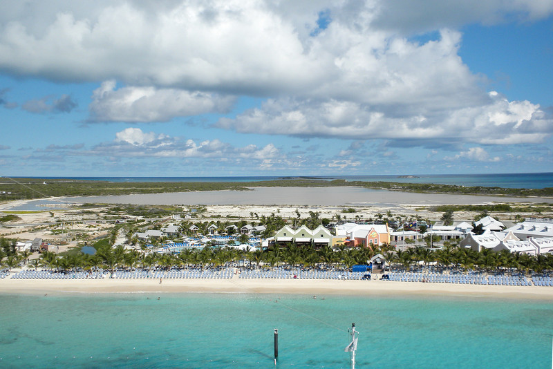 View from our balcony of the tourist area and the rest of the island at Grand Turk