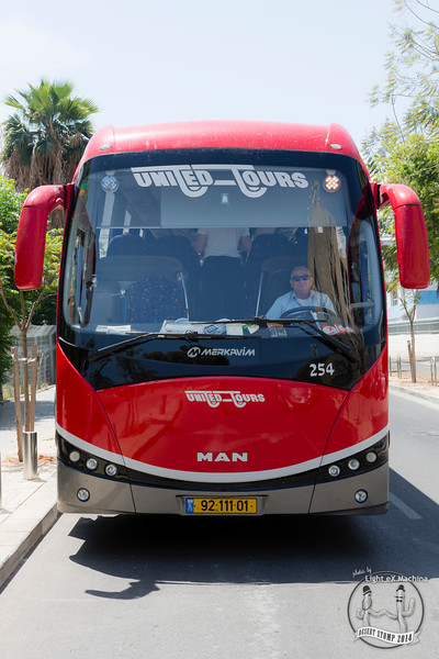 Desert Stomp - travel to Mizpe Ramon, the smiling bus  © Light eX Machina, 2014. All rights reserved.