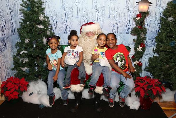 Santa Visits Gladden House 2014