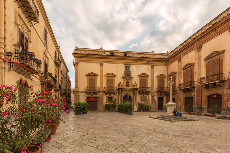 The North East facing exterior of the Palazzo Valguarnera Gangi in Palermo, where the ballroom scene in Il Gattopardo (The Leopard) was set (both in the book and the film)