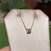 .70ct French Cut Diamond Bezel Pendant, 18kt Yellow Gold 3