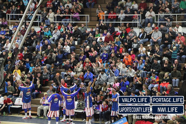 Harlem Globetrotters at Michigan City High School 01-23-14