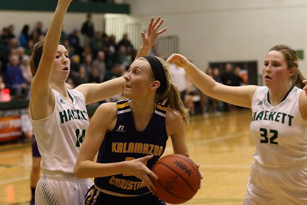 Basketball Girls Varsity Districts vs Hackett - KCHS - 3/2/18