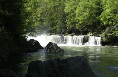 22166 state scenes water fall waterfall on Big Sandy