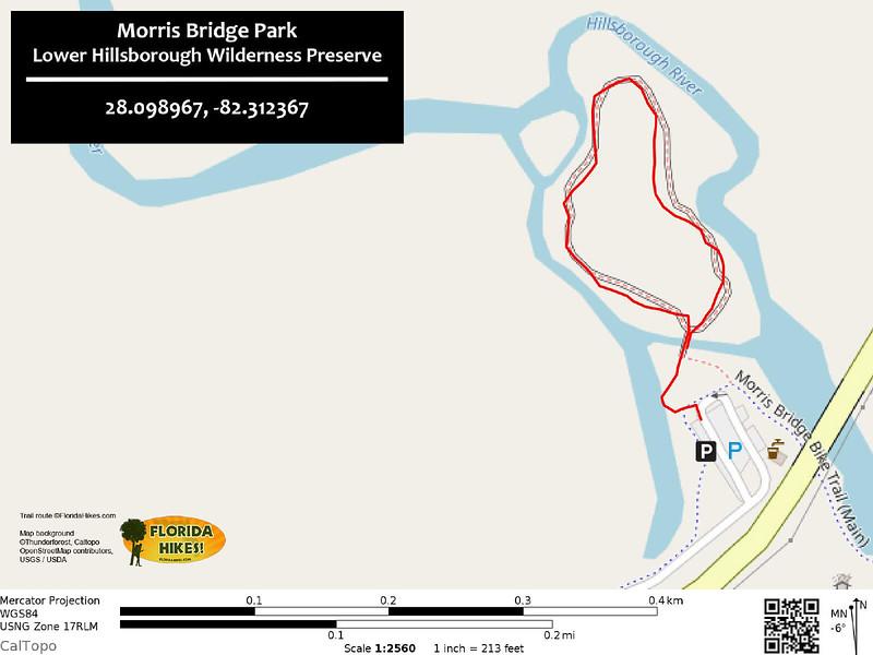 Morris Bridge Park Trail Map