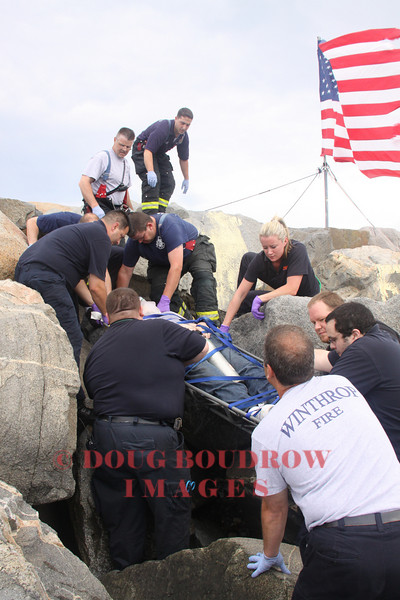 Winthrop, MA - Technical Rescue, Shore Drive, 7-3-09