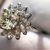 2.87ctw old European Cut Diamond Spray Ring GIA J SI1 18