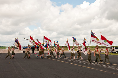 Boy Scouts at the 2010 Air Show