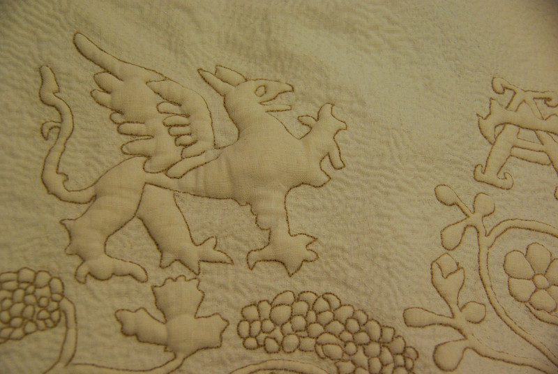 Boutis Quilted panel in the style of the Tristan Quilts - Medb inghean Daire