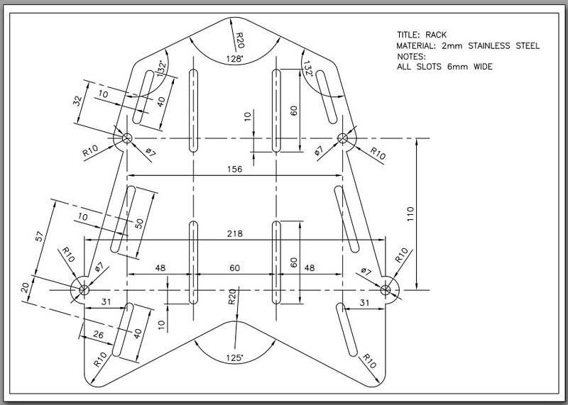 Design Schematic - AndyW's (www.MTS1200.info) custom carrier rack COPYRIGHT ANDYW