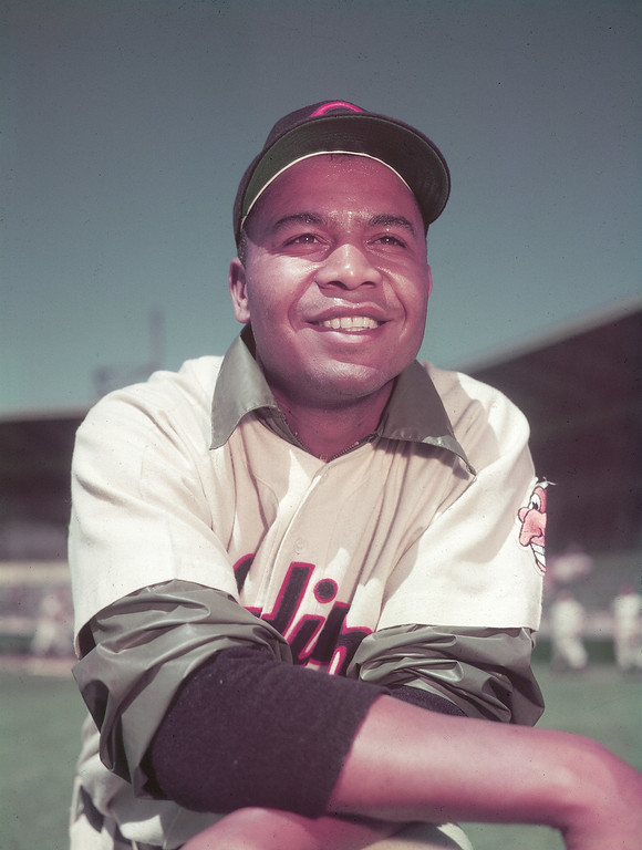 . This is a March 1951 photo of Larry Doby, outfielder for the Cleveland Indians.  (AP Photo)