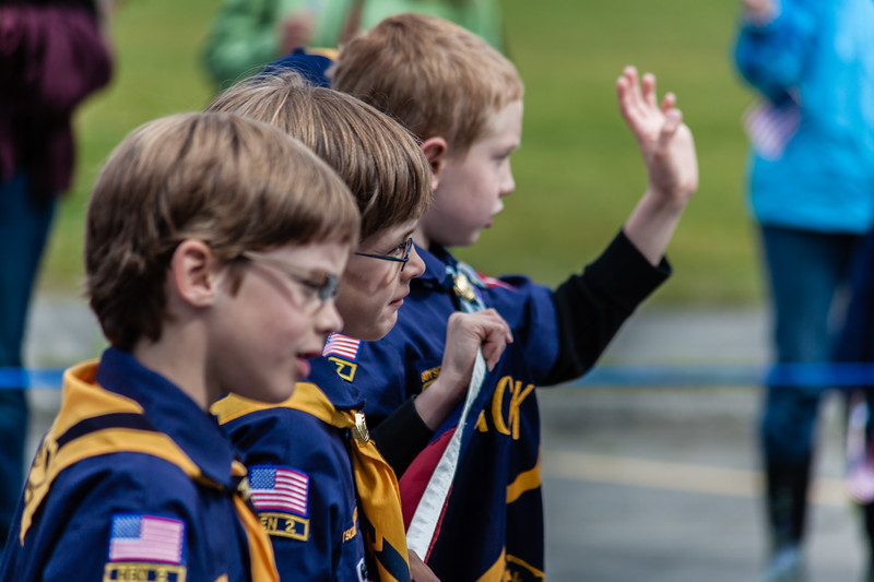 Scouts in fourth of July parade
